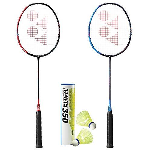 YONEX Astrox Smash (2 Rackets) and 1 Tube of Mavis 350 Shuttlecock Badminton Combo Set