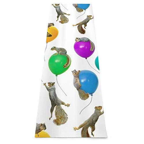 LOSUMIGE Esterilla Yoga Ardillas Globos Gracioso Lindo Multicolor Colchonetas de ejercicio Pilates para entrenamiento en casa Gimnasio Fitness Meditación Alfombra