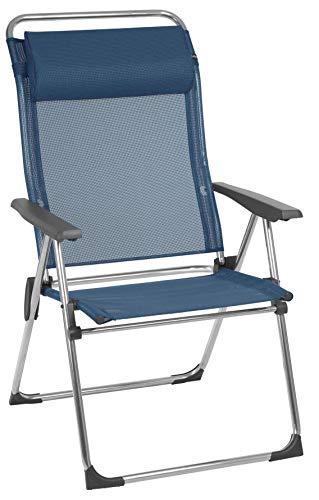 Lafuma Amplia silla plegable compacta portátil, ALU CHAM XL, Batyline, Azul, LFM2774-3865