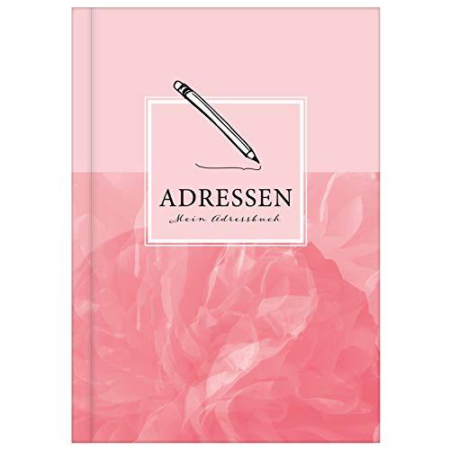 Adressbuch mit Geburtstagskalender | Kontaktbuch in DIN A5| Telefonregister & Adressbuch mit Telefonnummer, Adresse, E-Mail | Telefonbuch rosa