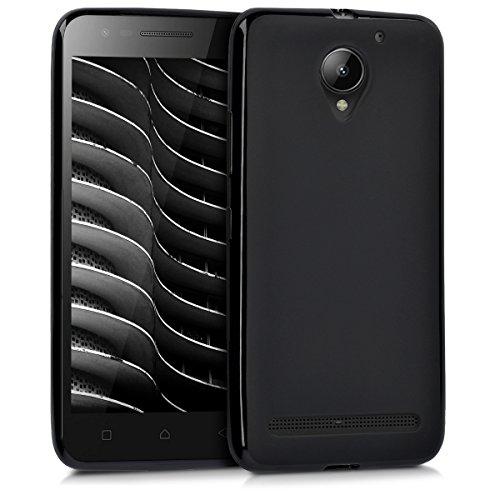 "kwmobile Hülle kompatibel mit Lenovo C2 (5\"") - Hülle Silikon - Soft Handyhülle - Handy Case in Schwarz matt"