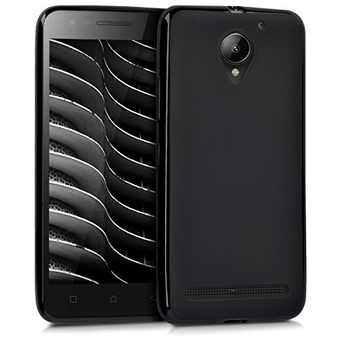 "kwmobile Hülle kompatibel mit Lenovo C2 (5\"") - Handyhülle - Handy Case in Schwarz matt"