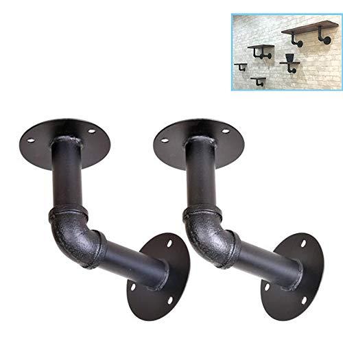 Konsol 2 × rör hylla hållare rustik vägghylla simning industriell hylla hållare rörhylla för köksglasögon