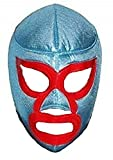 Children's Kids Nacho Libre Youth Lucha Libre Wrestling Mask - Luchador Mask for Kids Handmade in Mexico by Skilled artisans. Nacho Libre Costume Wrestler Wrestling Lucha Libre mask Blue