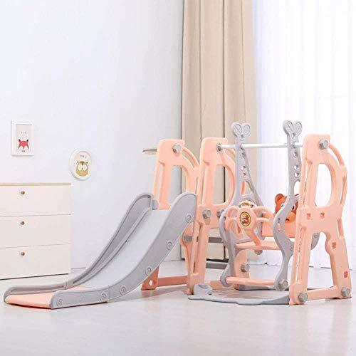 Swing Swing Swing Swing - Slide interior para jardín, niños, parque de madera, parque de bebé, juego de bebé, año año, Swing Glistico, Piscina Anti-Skid juego Estagiario, roso