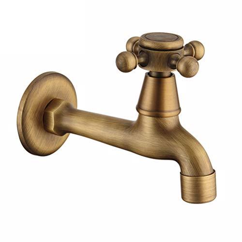 TOPBATHY Grifo de tamaño largo, vintage, de cobre, para el hogar, para la limpieza de la fregona o la piscina