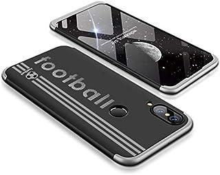 Huawei Nova 3e case, Fashion ultra Slim Gkk 360 special edition Football 3d printed Full Protection cover Case - Black & S...