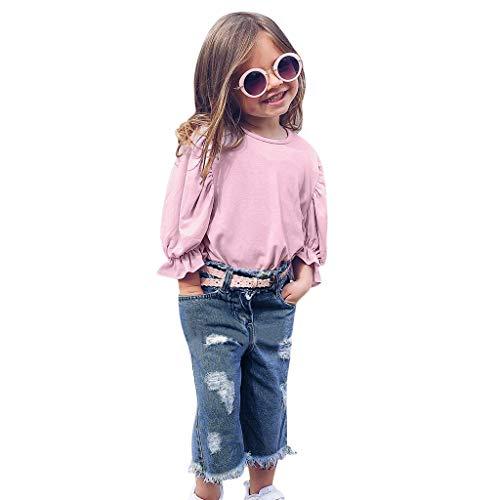 Baby Kleidung Weant - Fitness-Bekleidungssets für Mädchen in Rosa, Größe 90
