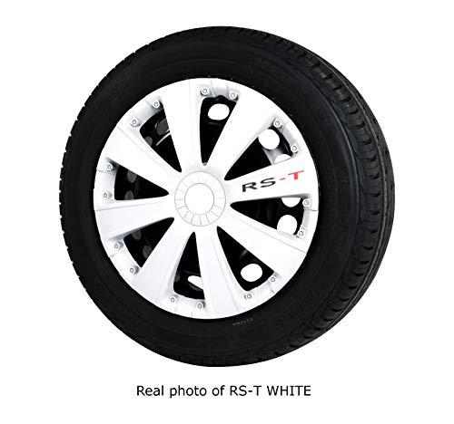 AUTO ZH Tapacubos RS-T blanco | Juego de 4 | Tamaño 14'