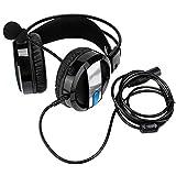 Garsent Aviation Pilot Headset, Noise Reduction On Ear-Kopfhörer mit winddichtem Schaummikrofon und verstellbarem