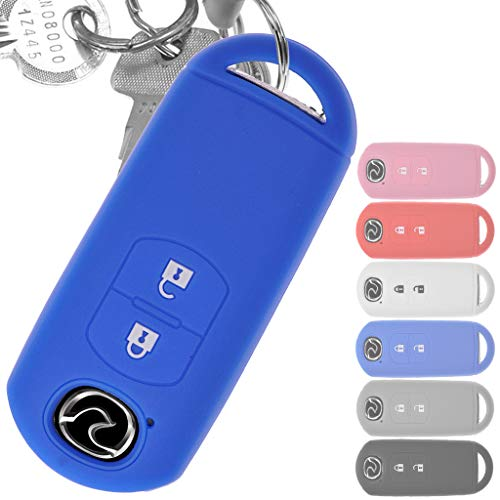 Soft Case Schutz Hülle Auto Schlüssel Key Cover Keyless Blau für Mazda 2 3 6 CX-3 CX-5 MX-5 2 Tasten