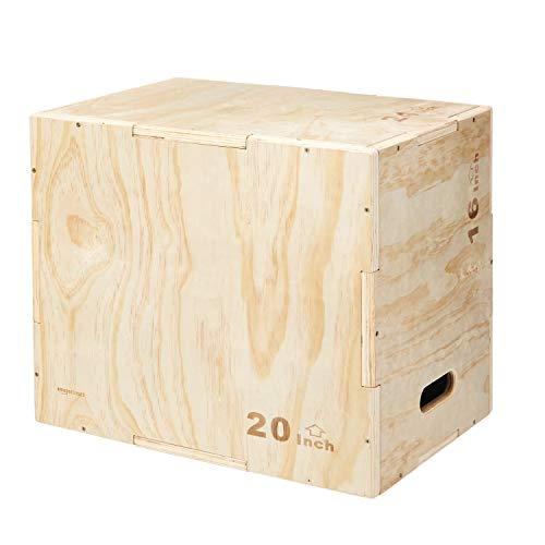 """AmazonBasics Wood Plyometric Training Exercise Box, 16"""" x 20"""" x 24"""""""
