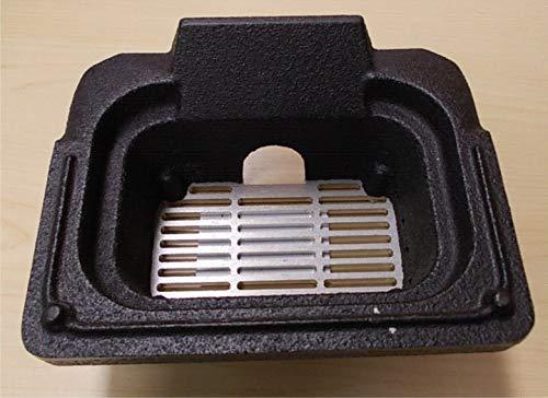 Braciere - crogiolo in ghisa completo di griglia per stufe Edilkamin e Italiana Camini cod. R 654240.