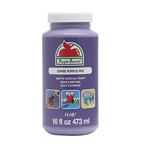 Apple Barrel Acrylic Paint, 16 oz, Purple Iris