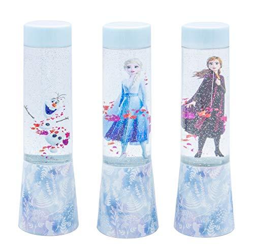Joy Toy 68894_12 Disney Frozen (Eiskönigin) LED-Glitzerlampen in Tubenverpackung- Batterie betrieben, 3 verschiedene Motive, 4,5 x 4,5 x 15 cm