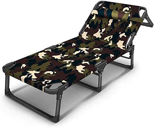 DFANCE Sillón reclinable ligero y plegable, para jardín, para exteriores, patio, invitados, silla reclinable (color : B) (color: B)