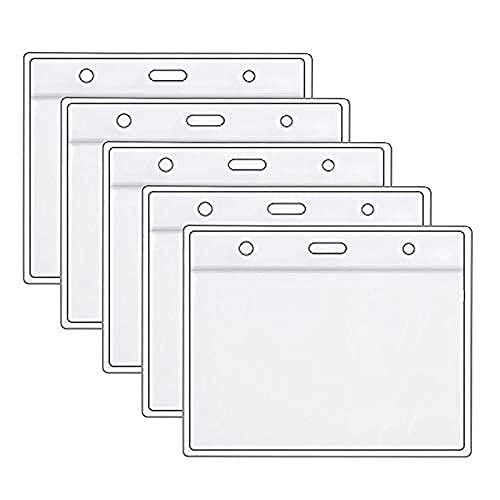 Health Card ID Card Protective Case Waterproof PVC Soft Card Case-Card Protector 4 X 3 in Name Tag Badge Cards Holder Clear Vinyl Plastic Sleeve with Waterproof Type Resealable Zip (3 Pack)-5_Pack