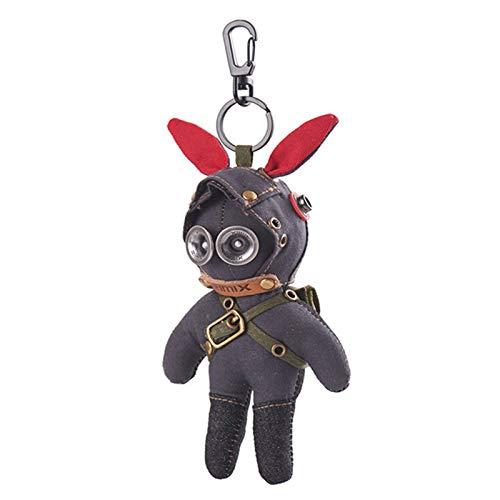Matilda Taktisches Kaninchen in Militäruniform, Tarn-Steampunk-Stil, Schlüssel-Zauberer-Anhänger, Auto-Rucksack-Schlüsselbund(Color:B)