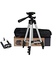Generic 3110 Tripod Stand for Phone and Camera Adjustable Aluminium Alloy Tripod Stand Holder for Mobile Phones & Camera,Photo/Video Shoot
