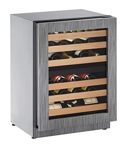 "U-Line U-2224ZWCINT-00A 24"" Under Counter Dual Zone Wine Captain, Panel Ready Frame, Right Hand Hinge (Certified Refurbished)"