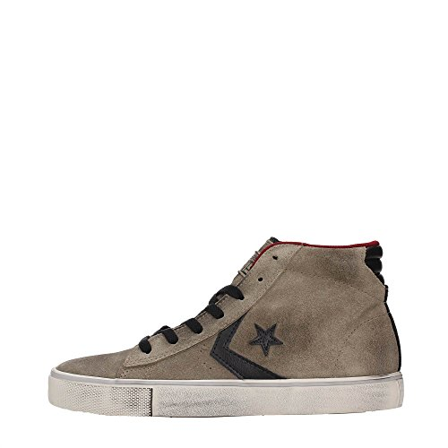 Converse Sneaker Alta PRO Leather Vulc Fango/Nero/Rosso EU 40