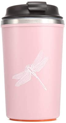 A Coffee/Water Suction Stainless Steel Mug, Travel Mug, Non-Spill Non-Fall Coffee/Water Suction Mug, Drinking Mug with Lid - Grey and Pink Available (pink)