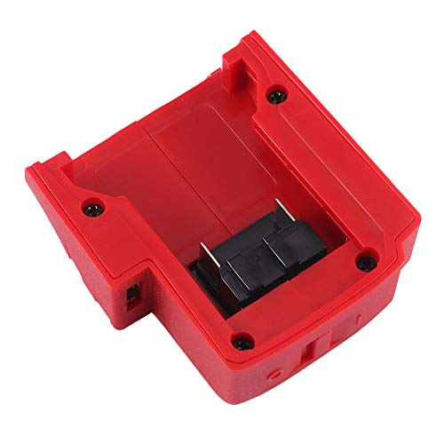 Konesky Protable USB-Ladegerät-Adapter Convertor Akku-Konverter-Adapter für Milwaukee 18V Rapid-Ladegerät ÜberstromSchutz