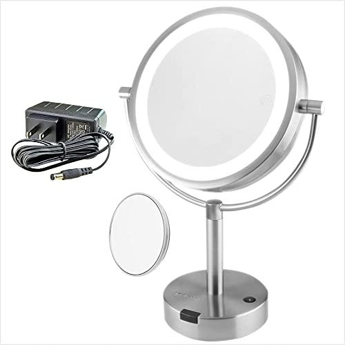 Ovente Lighted Vanity Mirror Tabletop, 8.5