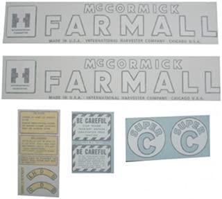 All States Ag Parts Vinyl Decal Set - Farmall & Super C International Super C