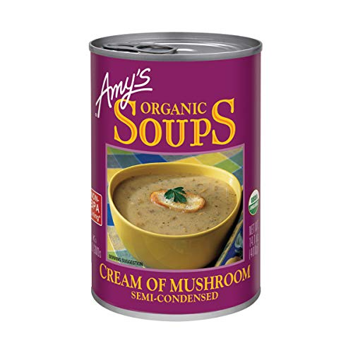 Amy'S, Soup Cream Of Mushroom Organic, 14.1 Ounce