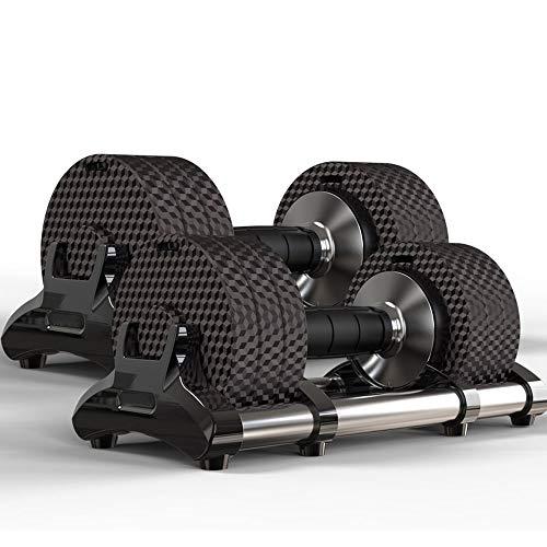 XJMM Verstellbare Hanteln 15kg Fitness Hantel-Set, Power Block Hanteln Gewichte Hanteln Set männliche und weibliche Ausrüstung Home Training Arm Muscle Gym Gewichte for Männer Dumbells