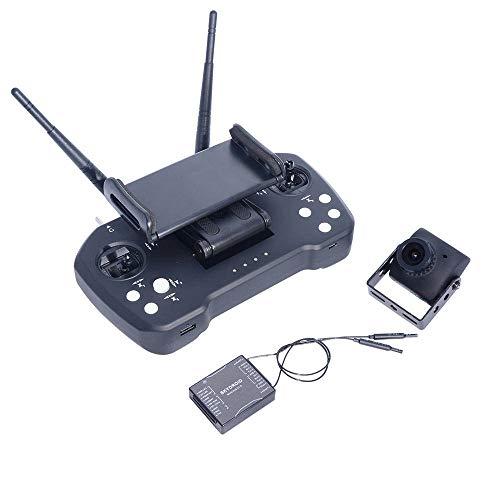 RC-Sender 2.4GHz 12CH Intergreinted Kontrolle Video und Telemtry-System 20 km Reichweite Sender mit R12 Empfänger und Kamera for RC Drone (Farbe : Schwarz, Größe : Einheitsgröße)