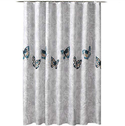 MOMONY Duschvorhang mit Kunststoffhaken, wasserabweisend, Polyester, schimmelresistent, Duschvorhänge für Badezimmer, 180 x 180 cm