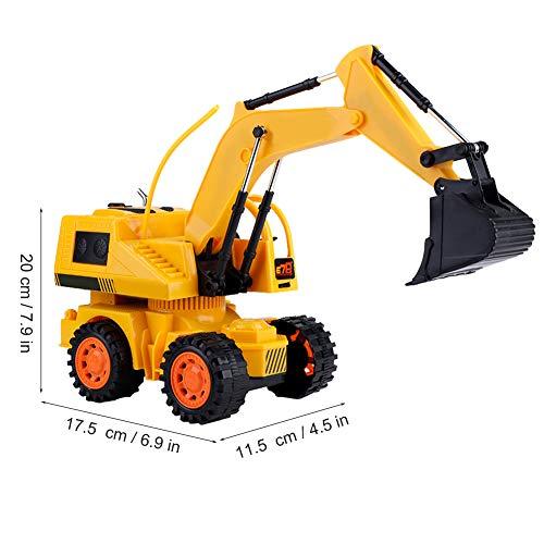 RC Auto kaufen Baufahrzeug Bild 2: Dilwe RC Bagger, 5CH Full Functional Fernbedienung Bagger Baufahrzeug Bagger Traktor*