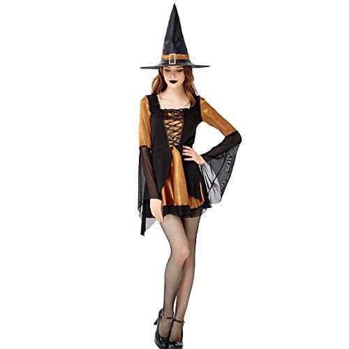 ZSTY heks kostuum, halloween cosplay heks spel pak heks jurk heks heks nachtclub DS masquerade kostuum