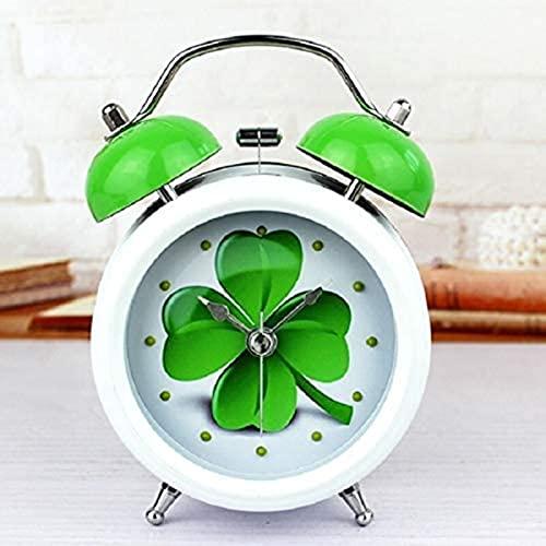 dh-13 Despertador Retro Alarma Decoración para el hogar Madera Relojes de Madera Mesa Metal Blanco