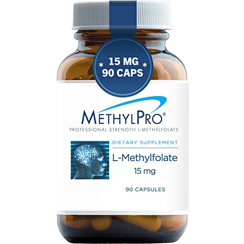 MethylPro 15mg L-Methylfolate (90 Capsules) - Professional Strength Active Methyl Folate, 5-MTHF Supplement for Mood, Homocysteine Methylation + Immune Support, Gluten-Free with No Fillers
