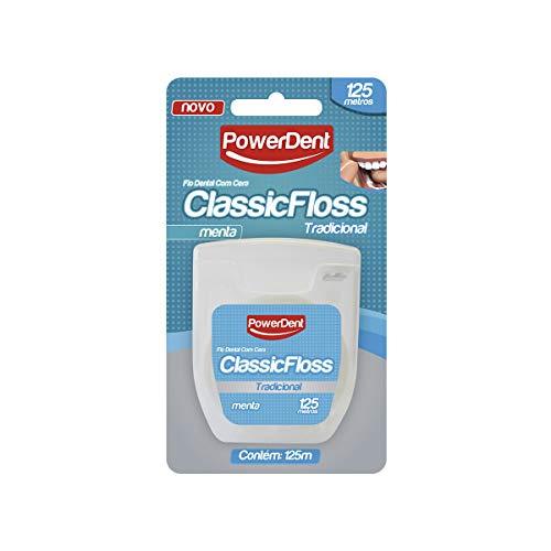 Fio Dental Classic Floss Tradicional 125 M, Menta, Power Dent, Power Dent
