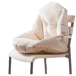 Coussin de Chaise avec Dossier siège Coquille Fauteuil Velours Douillet Elastique Impermeable pour Chaise en Rotin…