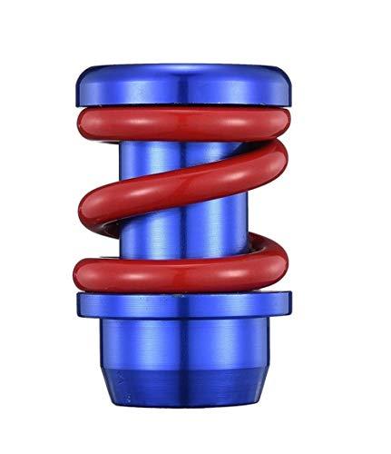 Perilla de cambio de palanca de cambios de transmisión de coche Universal, perilla de cambio de marchas automática Manual de aluminio, estilo de coche-Red_Blue