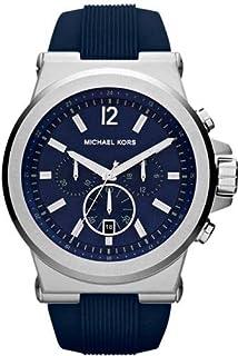 ساعة مايكل كورس ديلان زرقاء مطاط للرجال MK8303
