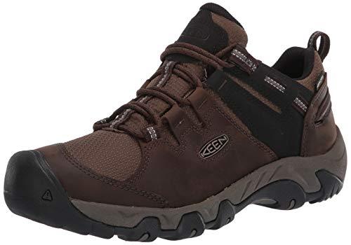 KEEN Men's Steens WP Hiking Shoe, Brown, 12