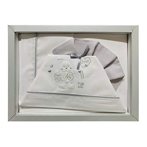 Nada Home - 2517 - Lot de 3 couffins assortis en coton pour bébé Culla-Carrozina gris
