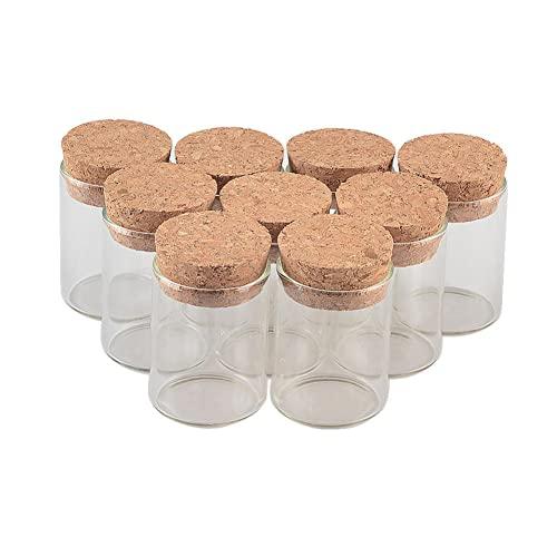 BAWAQAF Bottiglie di vetro,3040mm 15ml trasparente piccola bottiglia di vetro,12pcs bottiglia di messaggio di vetro Drift,Regalo di laurea