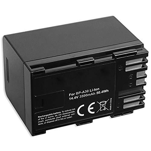 1 batería Compatible con BP-A30 para Canon EOS C200, C300 Mark II (PL), C500 Mark II/Canon XF705 (Ion de Litio, 3500 mAh, 14,4 V, 100% Compatible)