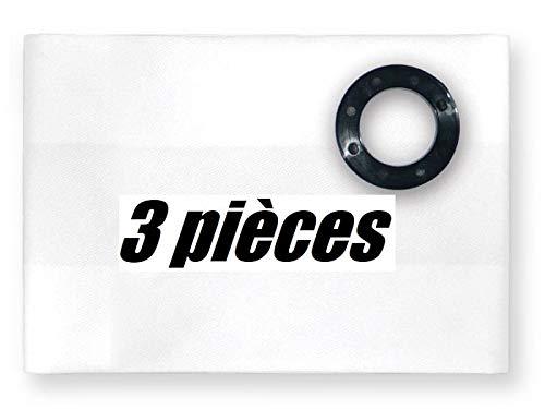 3x Bolsas reforzadas de seis capas para polvo de construcción (masilla, yeso, etc.) tejido Hilti WVC 40-M