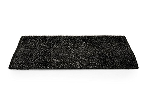 Camco 42942 Black Premium Wrap Around RV Step Rug (Turf Material (22' x 23'))