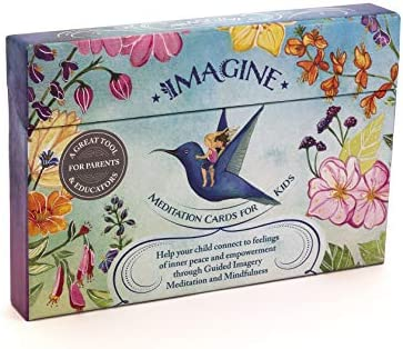 Meditation Cards for Kids a Mindfulness kit of XL Cards with Calming Guided Meditations for product image