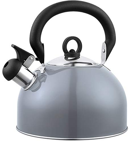 tetera hervidor de agua con silbato (GRIS)