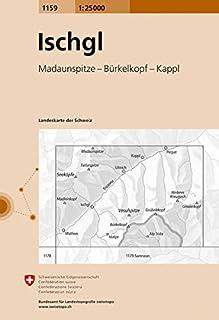 1159 Ischgl: Madaunspitze - Bürkelkopf - Kappl (Landeskarte 1:25 000)